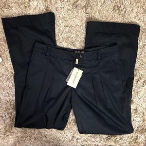 NWT Burberry Wide Leg Navy Pintuck Trousers 10